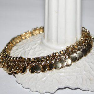 Gold charm dangle bracelet